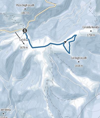 Cartina / Ciaspole al Passo Brocon