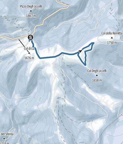 Map / Snowshoeing on Brocon Pass