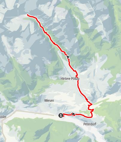"Karte / Hüttentour - Eselsberggraben ""R5 rot"""