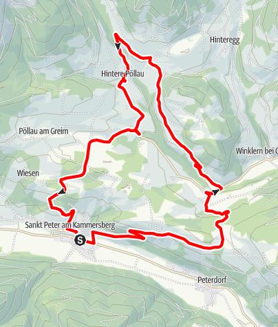 """Karte / Eselsberggraben kürzere Variante """"R5a rot"""""""