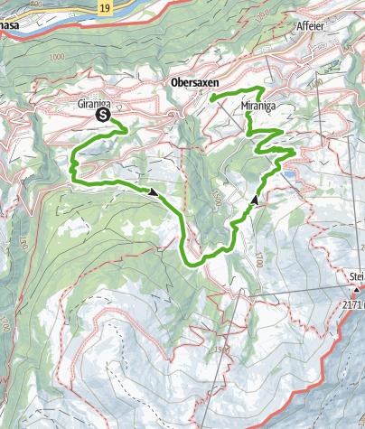 Karte / 753 Walserweg Obersaxen