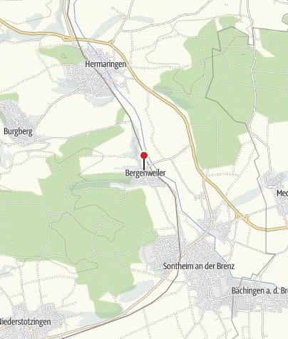 Karte / Der Mühlenplatz in Bergenweiler