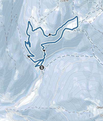 Map / Snowshoeing - Itinerary to Rifugio Conseria
