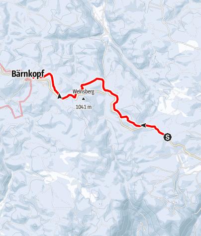 Mapa / Verbindungsloipe Bärnkopf