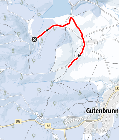 Karte / Verbindungsloipe Edlesberg