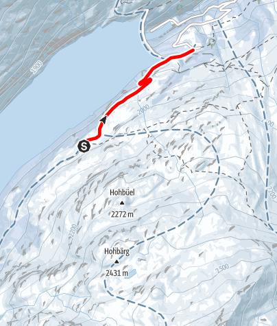 Map / Schlittelweg Kapelle - Zerfreila