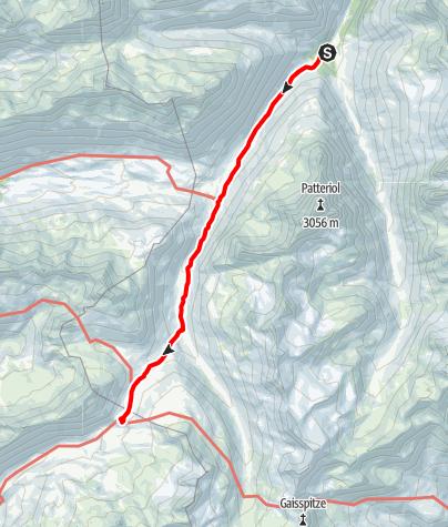 Karte / Übergang von der Konstanzer Hütte zur Heilbronner Hütte über das Schönverwalltal