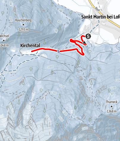Karte / Winterwanderung nach Maria Kirchental