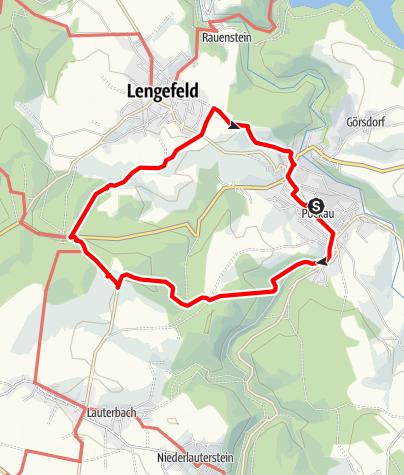 """Karte / Wandern zwischen """"Glück auf"""" und """"Glück zu"""""""