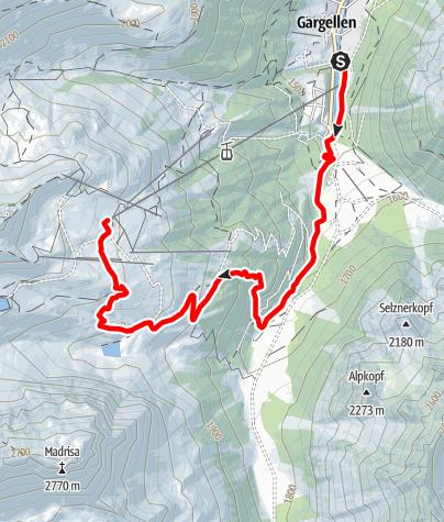 Kaart / Schafberg-Lauf Gargellen