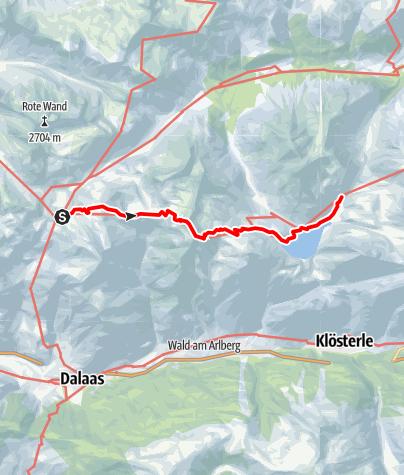 Karte / Übergang von der Freiburger Hütte durch das Steinerne Meer zur Ravensburger Hütte