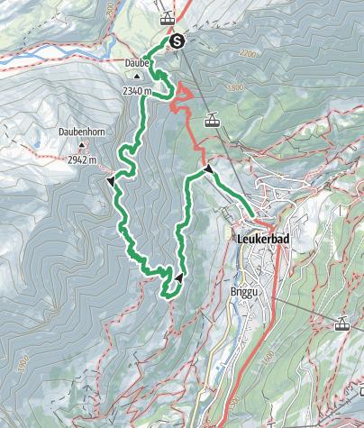 Map / Small Daubenhorn via ferrata