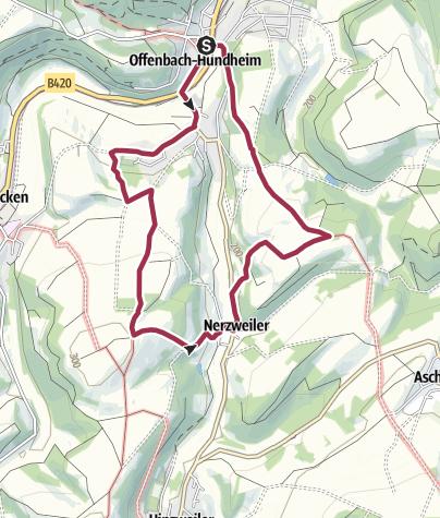 Karte / Offenbach-Hundheim - Rundwanderweg