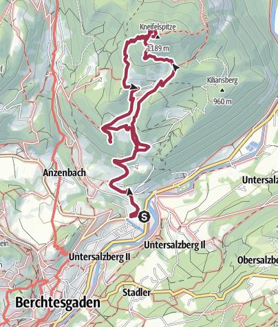 Karte / Vom Salzbergwerk Berchtesgaden zur Kneifelspitze