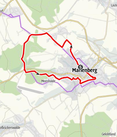 Karte / Rund um Marienberg - Bergbau entdecken