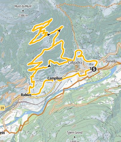 Karte / Trun Bergrunde