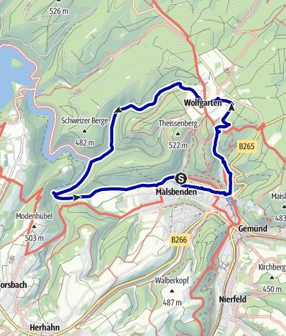Karte / Gemünd - Wolfgarten - Runde
