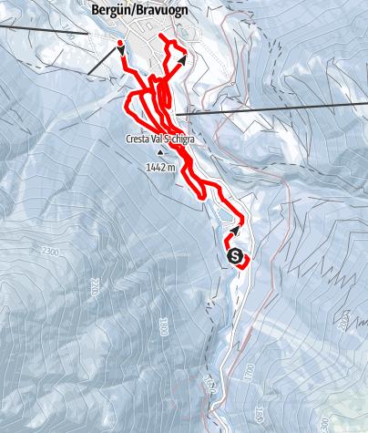 Karte / Bergün