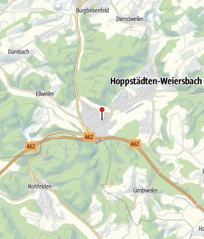 Karte / Keltischer Schaugrabhügel, 55768 Hoppstädten-Weiersbach (Neubrücke)