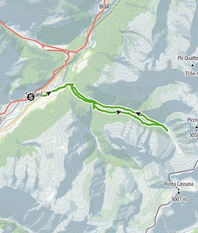 Karte / Val Trupchun: Wildreichstes Nationalparktal