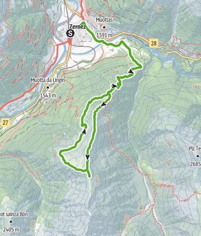 Map / Murtaröl : Aussichtsreiche Rundtour