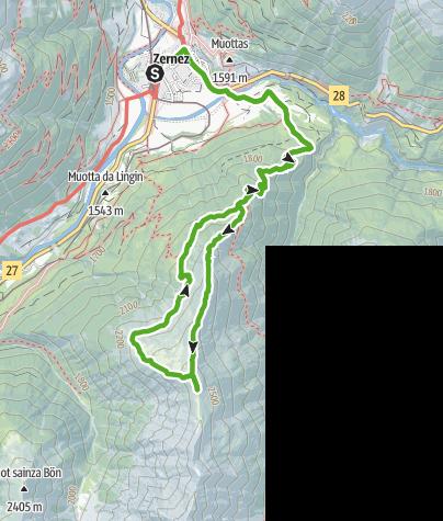 Karte / Murtaröl : Aussichtsreiche Rundtour