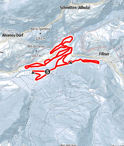 Karte / Filisur - Alvaneu Bad