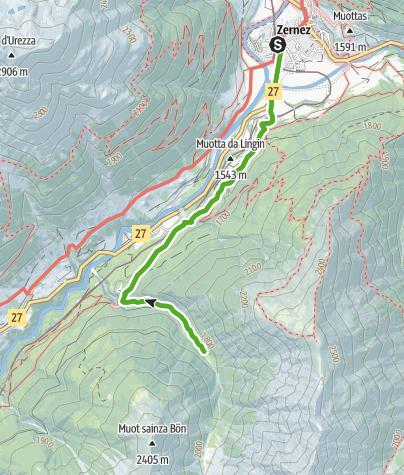 Karte / Val Tantermozza : Das einsame Tal