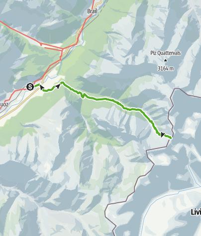 Karte / Fuorcla Trupchun : Zur Grenze und darüber hinaus