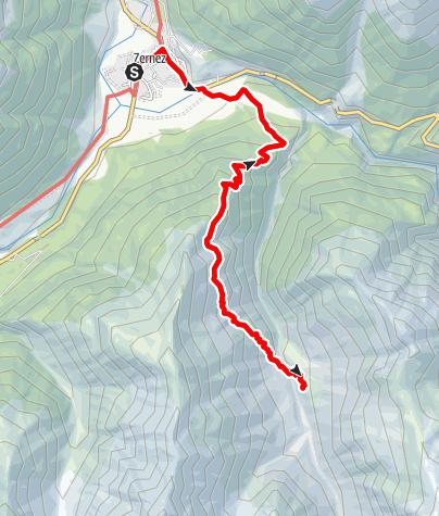 Kaart / Hüttenweg Chamanna Cluozza
