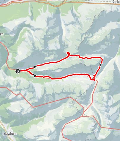 Karte / Emil-Roth-Weg im Europaschutzgebiet Verwall