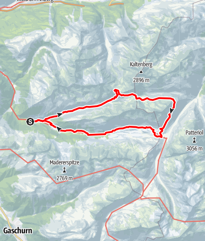 Map / Emil-Roth-Weg im Europaschutzgebiet Verwall