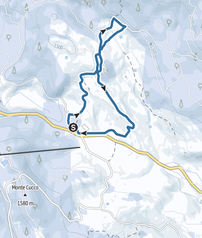 Map / Snow-shoeing on the Vezzena plateau