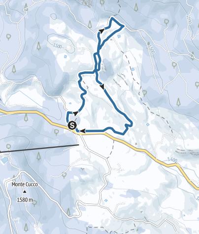 Cartina / Ciaspole sull'altopiano di Vezzena