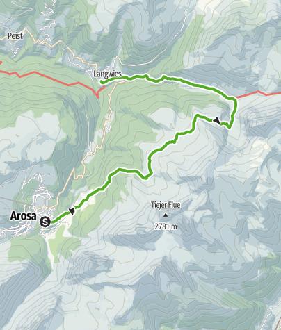 Karte / Walserweg Medergen - Dorfji Sapün