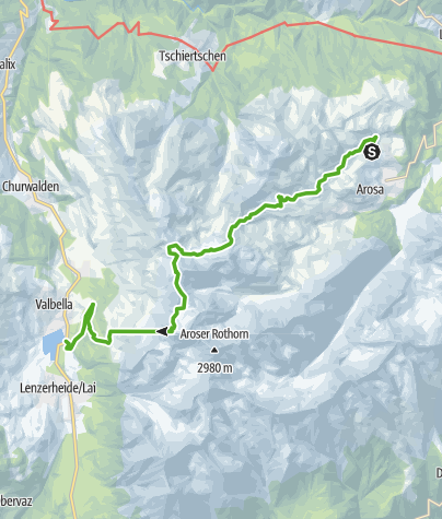 Map / Heidi and Gigi summer hiking trail