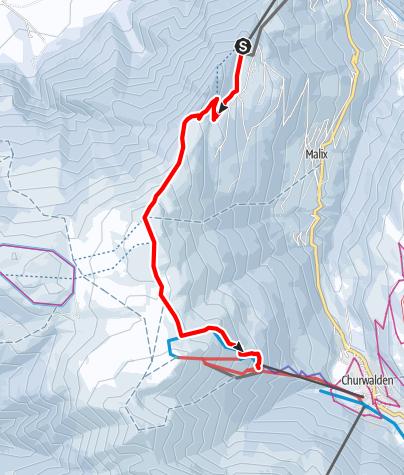 Map / 533 Brambrüesch-Pradaschier Trail (GR 2)