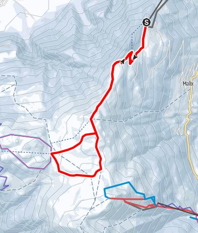 Karte / Rundroute Dreibündenstein (GR 4)