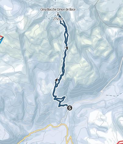 Karte / Bocche Spitze