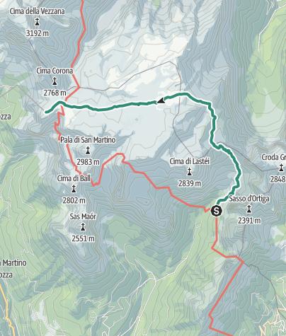 Map / Dolomiti Palaronda Trek - 4th stage