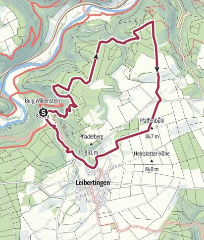 Karte / Große Donautraufrunde