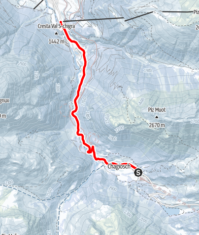 Karte / 805 Schlittelbahn Preda-Bergün