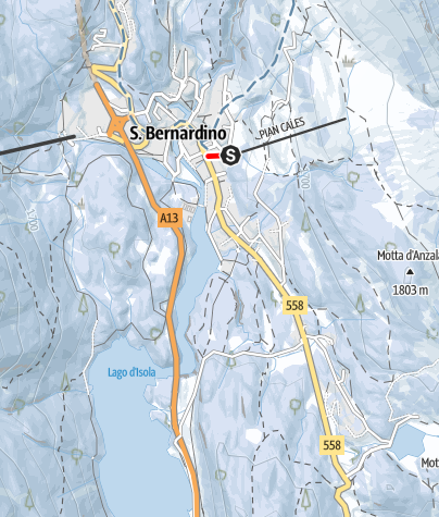Karte / Pista slitte San Bernardino