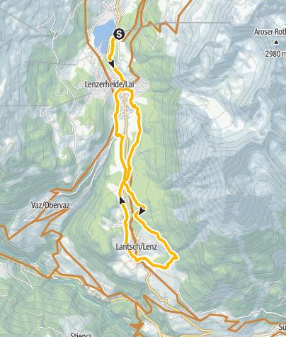 Kaart / 618 Fatbike Tour Lenzerheide