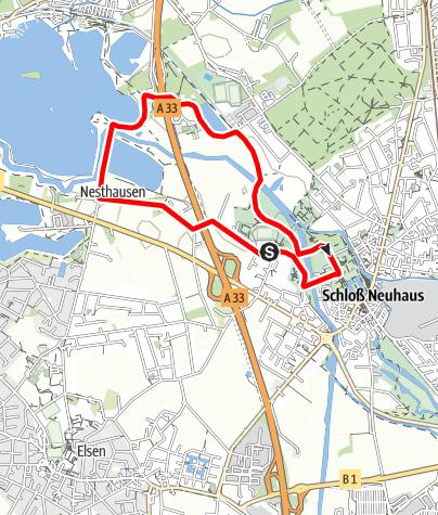 Karte / Residenz-Abendlauf 2021 (5km-Strecke)
