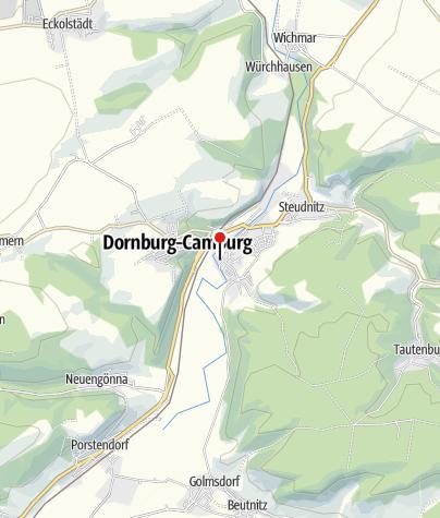 Karte / Kegelbahn des Kegelsportvereins Dorndorf e.V. (KSV Dorndorf).