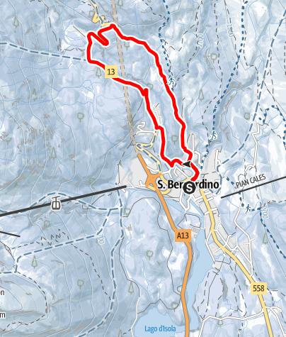 Cartina / Pont Nef - itinerario con ciaspole