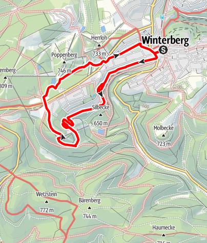Karte / Wanderung zum Erlebnisberg Kappe
