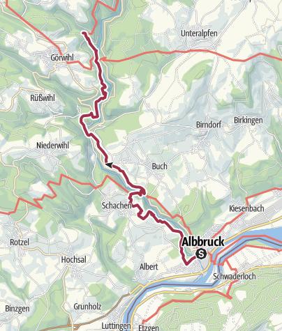 Karte / Albsteig Schwarzwald Etappe 1: Albbruck - Görwihl
