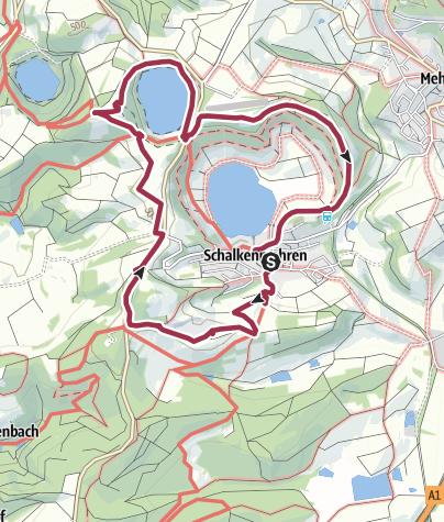 Carte / MICHELS WellnessHotel: Höhenwanderung rund um Schalkenmehren